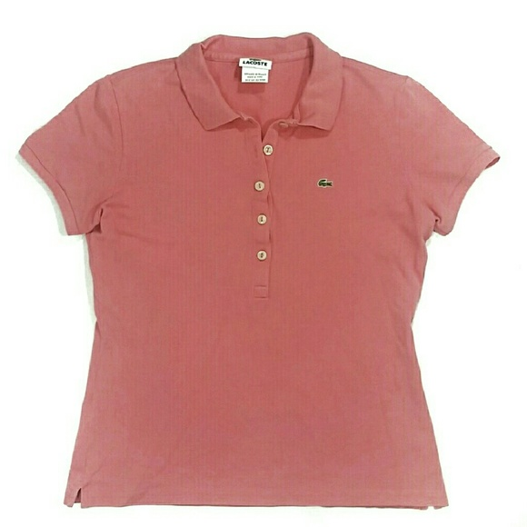 Lacoste Salmon Pink Shirt Medium 10 B5 Polo 42 eEIY29DWH